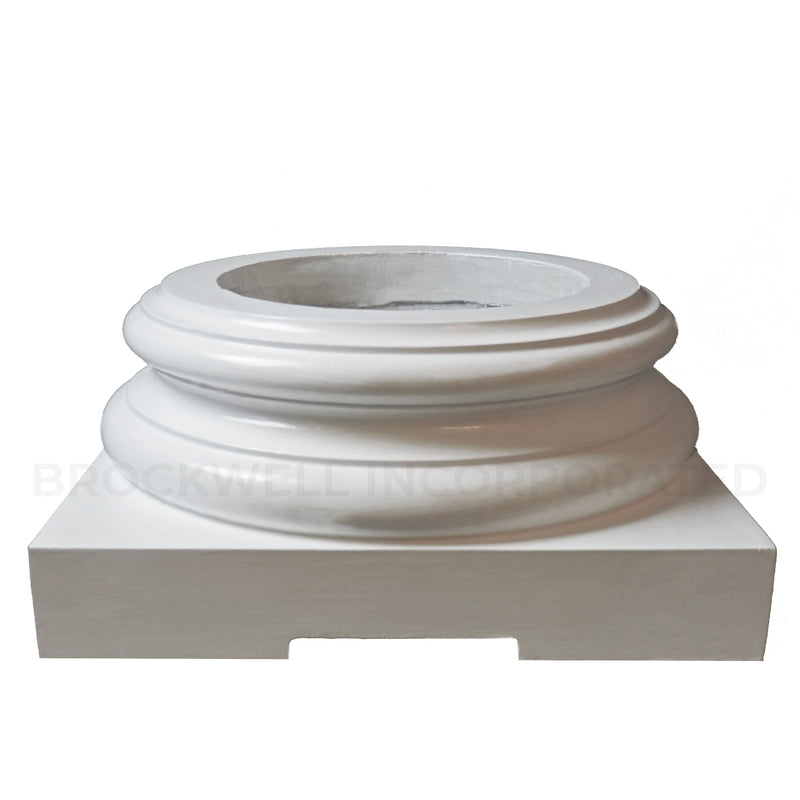 Vented Exterior Structural Fiberglass Attic Base for Wood Columns