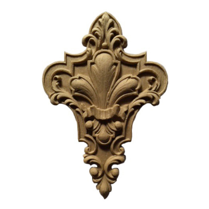 "3-3/8""(W) x 4-7/8""(H) - Decorative Fleur de Lis - [Compo Material] - Brockwell Incorporated"