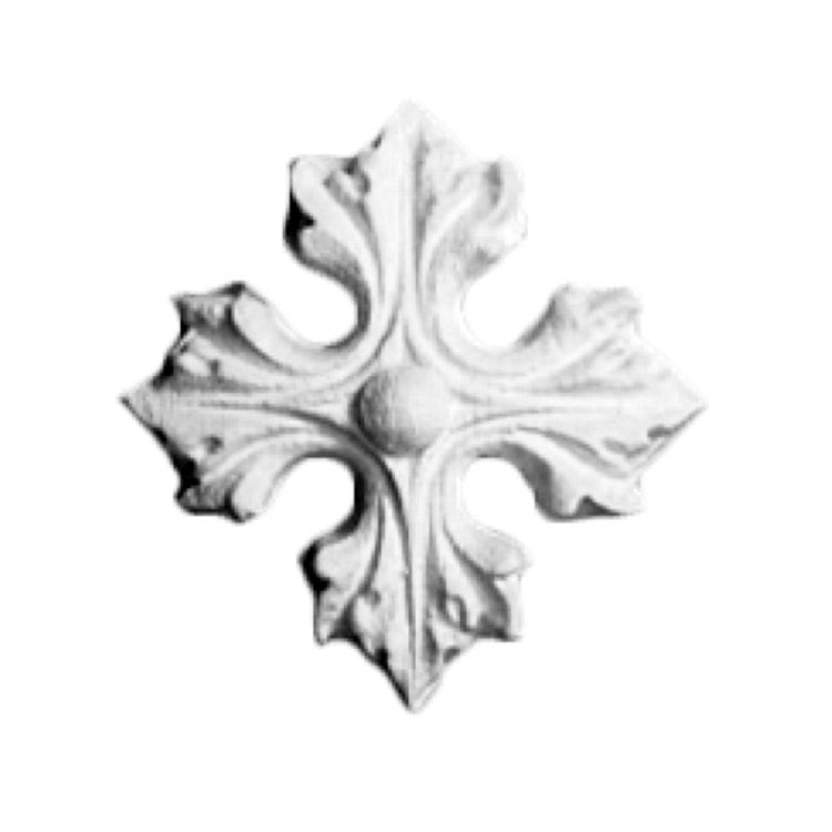 "2-1/2"" (Diam.) x 1/2"" (Relief) - Italian Rosette Applique - [Plaster Material] - Brockwell Incorporated"