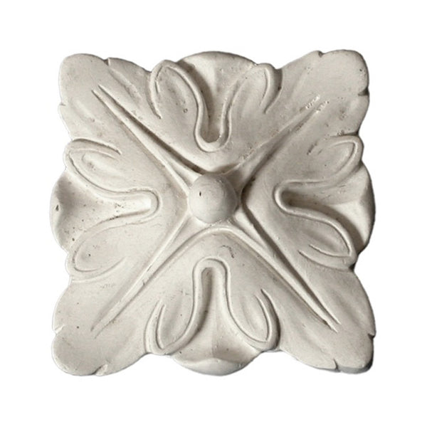 "2-7/8"" (W) x 2-7/8"" (H) x 1/2"" (Relief) - Classic Square Medallion - [Plaster Material] - Brockwell Incorporated"