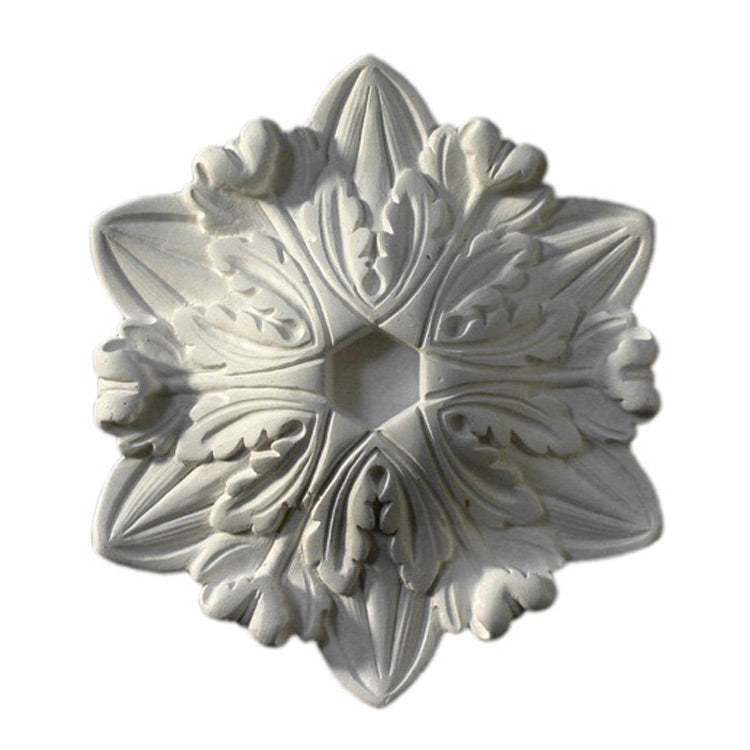 "5-3/4"" (W) x 6-3/4"" (H) x 1-1/4"" (Relief) - French Renaissance Medallion - [Plaster Material] - Brockwell Incorporated"