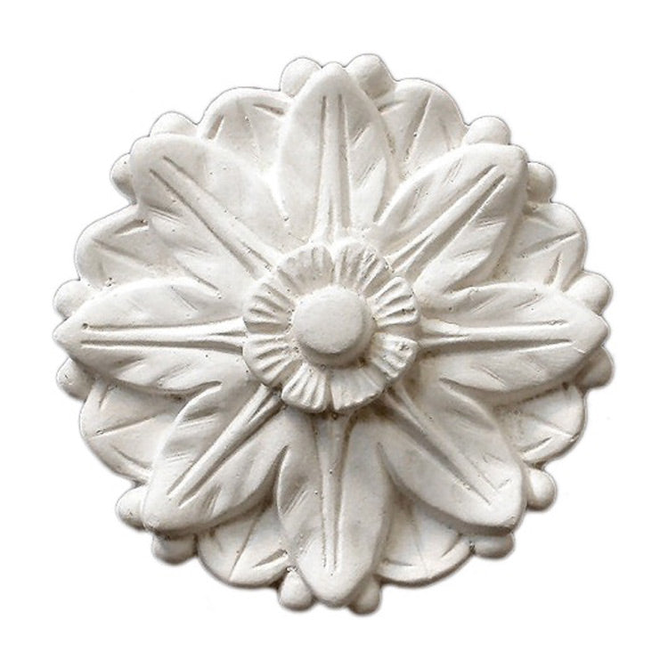 "4"" (Diam.) x 1"" (Relief) - Classic Floral Rosette - [Plaster Material] - Brockwell Incorporated"