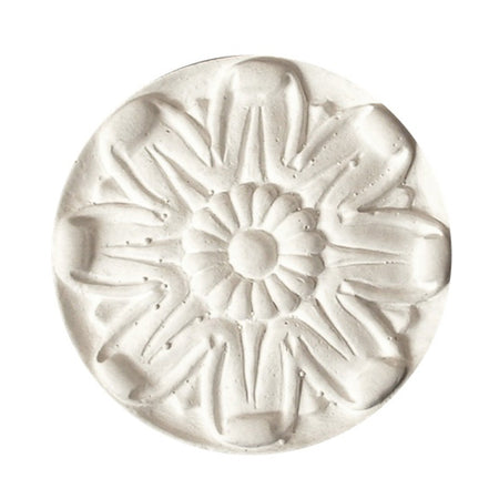 "2-3/4"" (Diam.) x 1/2"" (Relief) - Classic Floral Rosette - [Plaster Material] - Brockwell Incorporated"