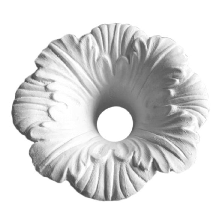 "5"" (Diam.) x 2-1/4"" (Relief) - Hole: 1-1/4"" - Flower Bulb Ring - [Plaster Material] - Brockwell Incorporated"