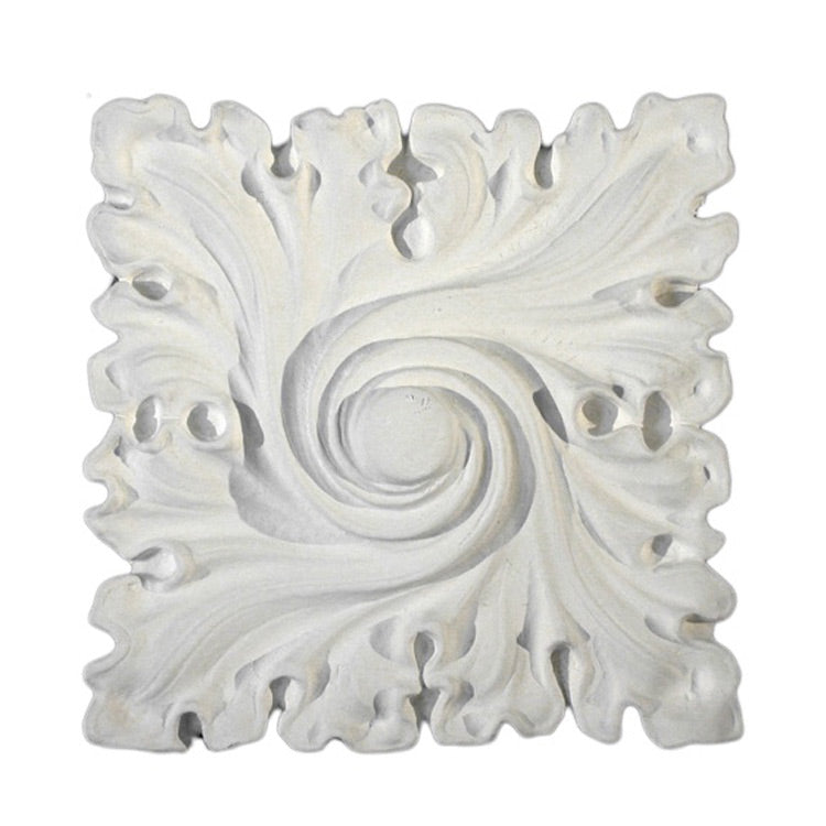 "6"" (W) x 6"" (H) x 1-1/4"" (Relief) - Gothic Style Square Medallion - [Plaster Material] - Brockwell Incorporated"