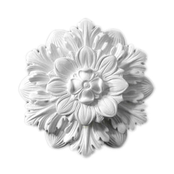 "9"" (Diam.) x 2-1/4"" (Relief) - Floral Bulb Ring - [Plaster Material] - Brockwell Incorporated"