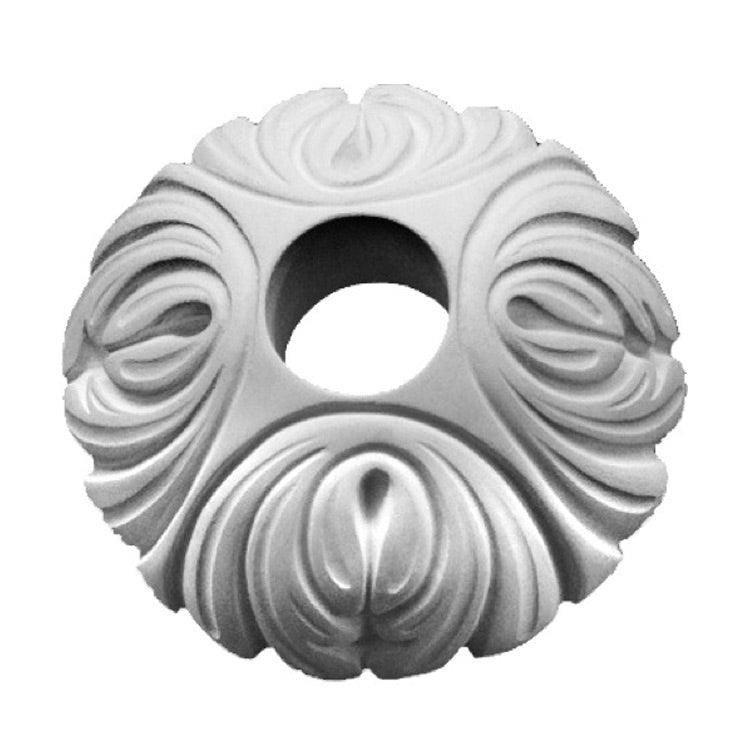 "5-1/2"" (Diam.) x 2"" (Relief) - Hole: 1-1/2"" - French Style Ring - [Plaster Material] - Brockwell Incorporated"