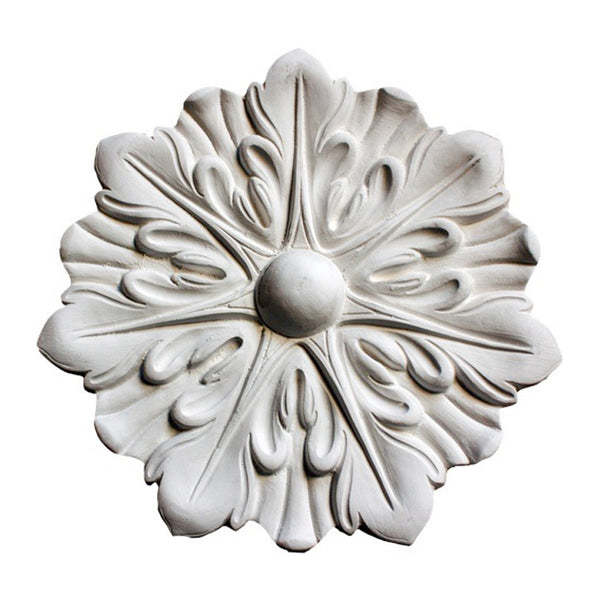 "6"" (Diam.) x 3/4"" (Relief) - French Style Circle Medallion - [Plaster Material] - Brockwell Incorporated"