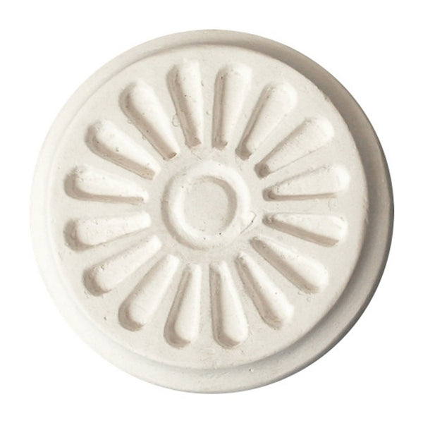 "3-1/4"" (Diam.) x 1/2"" (Relief) - Adam's Style Rosette - [Plaster Material] - Brockwell Incorporated"