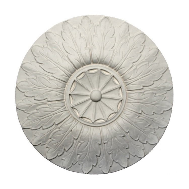 "12"" (Diam.) x 3/4"" (Relief) - Adam's Style Medallion - [Plaster Material] - Brockwell Incorporated"