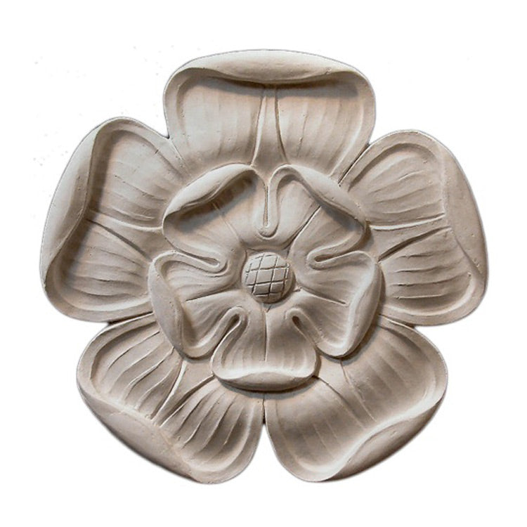 "14-1/2"" (Diam.) x 1"" (Relief) - Roman Style Flower Medallion - [Plaster Material] - Brockwell Incorporated"