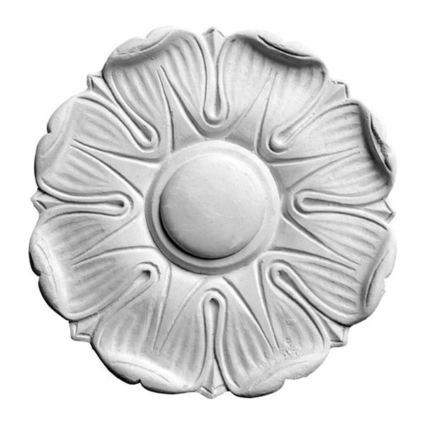 "5-3/4"" (Diam.) x 3/8"" (Relief) - Roman Flower Rosette - [Plaster Material] - Brockwell Incorporated"