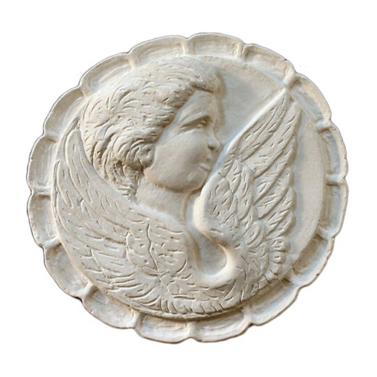 "7"" (Diam.) x 1"" (Relief) - Renaissance Style Cameo Rosette - [Plaster Material] - Brockwell Incorporated"