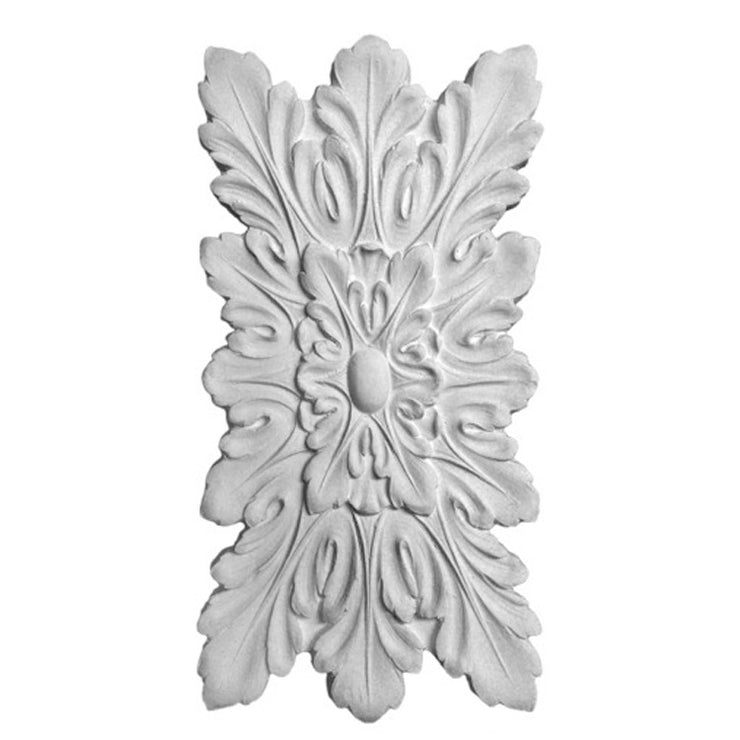 "7-3/4"" (W) x 15-3/4""(H) x 3/8"" (Relief) - Louis XVI Rosette - [Plaster Material] - Brockwell Incorporated"