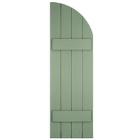 Arch (Radius Top) Board-n-Batten Shutters - [Classic Collection] - Brockwell Incorporated