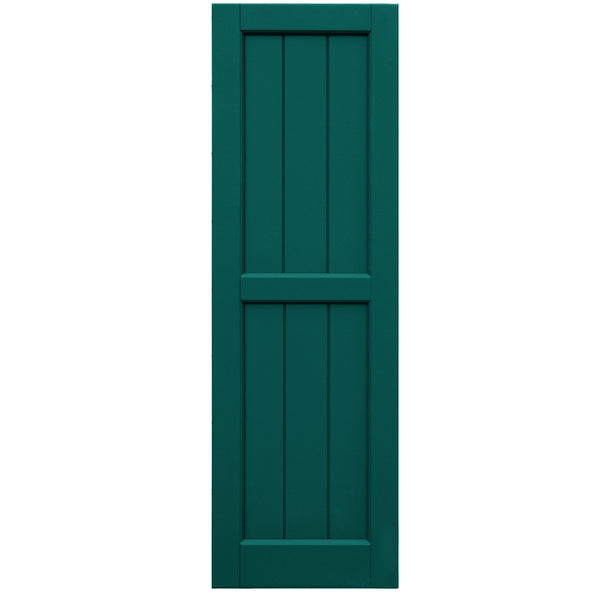 V-Groove Flat Panel Shutters - [Classic Collection] - Brockwell Incorporated