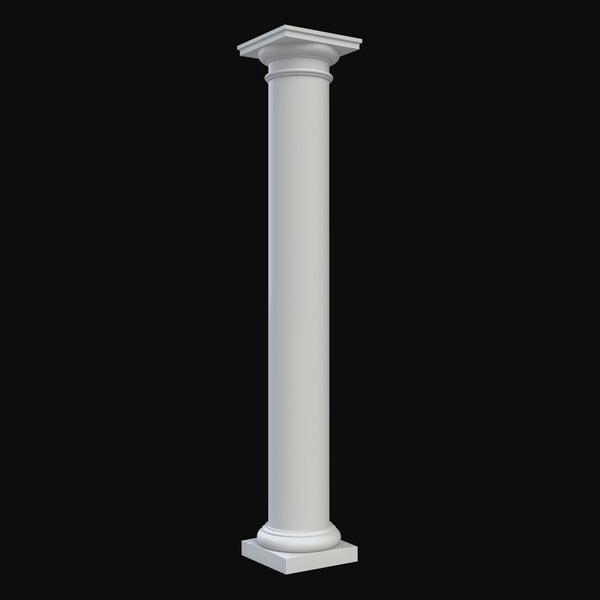 Column Design BR#104-NT - Brockwell's Plain, Round, Non-Tapered Tuscan Column