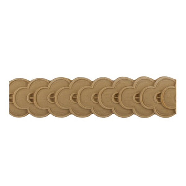 "Stain-Grade 1-3/4""(H) x 1/4""(Relief) - French Coin Linear Molding Design - [Compo Material]"