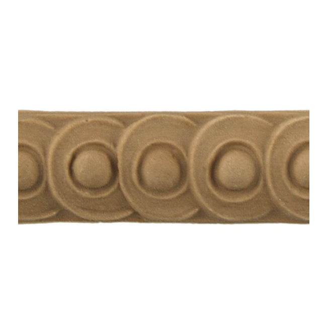 "Stain-Grade 3/4""(H) x 5/16""(Relief) - French Coin Linear Molding Design - [Compo Material]"