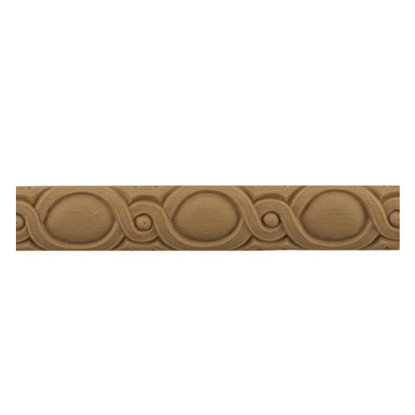 "Stain-Grade 1""(H) x 5/16""(Relief) - French Coin Linear Molding Design - [Compo Material]"