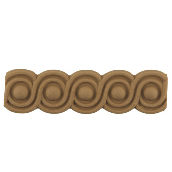 "Stain-Grade 1-1/4""(H) x 1/8""(Relief) - Stain-Grade Classic Coin Linear Molding Design - [Compo Material]"