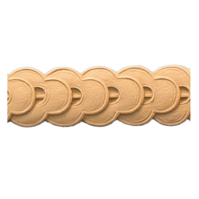 "Stain-Grade 1-1/2""(H) x 1/8""(Relief) - Classic Style Coin Linear Molding Design - [Compo Material]"