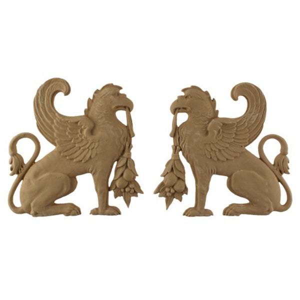 resin griffin decorative accent