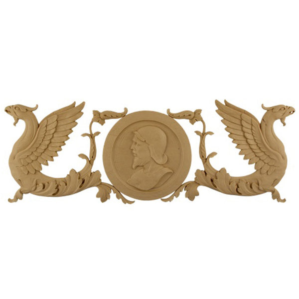 "20""(W) x 7""(H) Griffin Applique for Wood - Compo Material - DIY Home Accents"