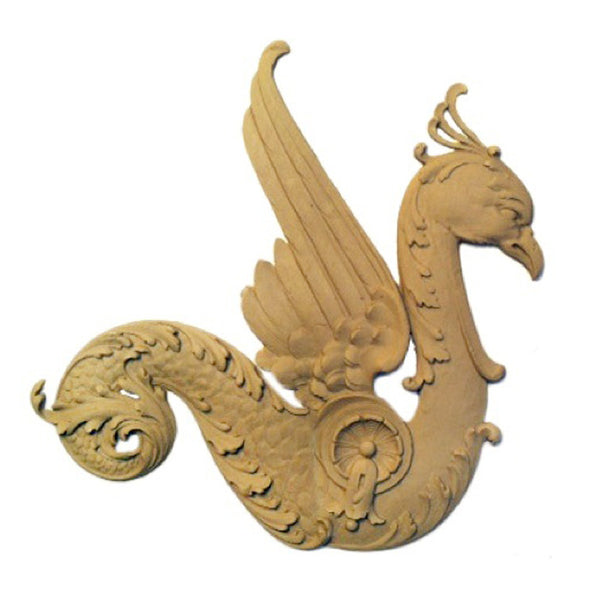 "10-1/4""(W) x 11""(H) x 3/8""(Relief) - Griffin Applique (Facing Right) - [Compo Material] - DIY Home Accents"