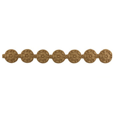 "2""(H) x 3/16""(Relief) - Empire Rosette Linear Molding Design - [Compo Material]-Brockwell Incorporated"