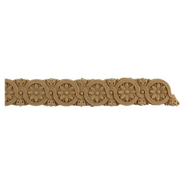 "1-1/4""(H) x 1/8""(Relief) - Empire Rosette Linear Molding Design - [Compo Material]-Brockwell Incorporated"