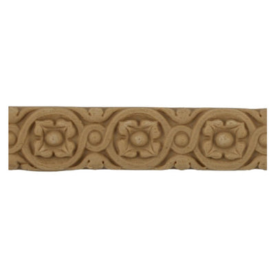 "3/4""(H) x 1/8""(Relief) - Italian Rosette Linear Molding Design - [Compo Material]-Brockwell Incorporated"