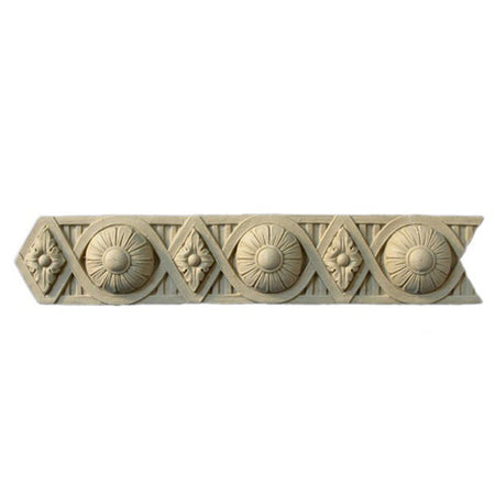 "2-3/16""(H) x 3/8""(Relief) - Flemish Rosette Linear Molding Design - [Compo Material]-Brockwell Incorporated"
