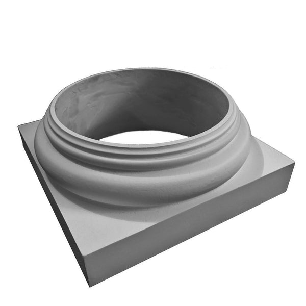 Doric Order Base Molding / Plinth - [Wraps Around] a Round, Composite Column Shaft - [Fiberglass Composite Material] - Brockwell Incorporated