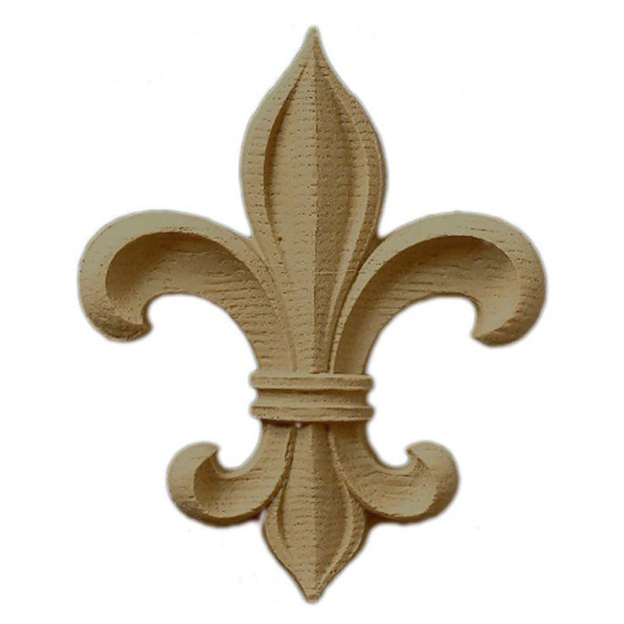 "4-3/4""(W) x 5-7/8""(H) x 1/2""(Relief) - Classic Style Fleur de Lis - [Compo Material] - Brockwell Incorporated"