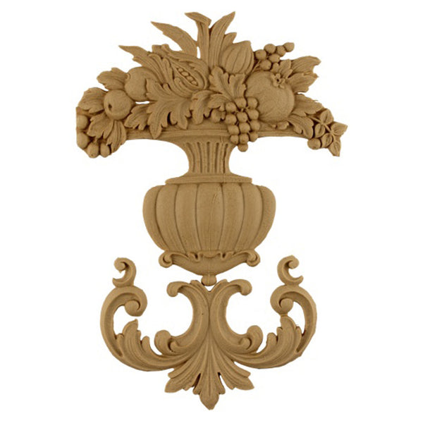 "6""(W) x 8-1/4""(H) - Decorative Fruit Basket Accent - [Compo Material] - Brockwell Incorporated"