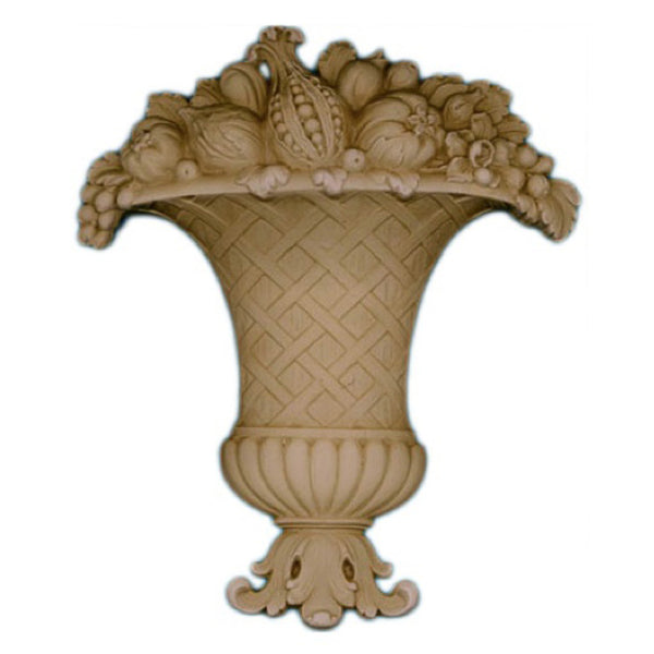 "6-1/2""(W) x 7-3/4""(H) - Fruit Basket Accent - [Compo Material] - Brockwell Incorporated"