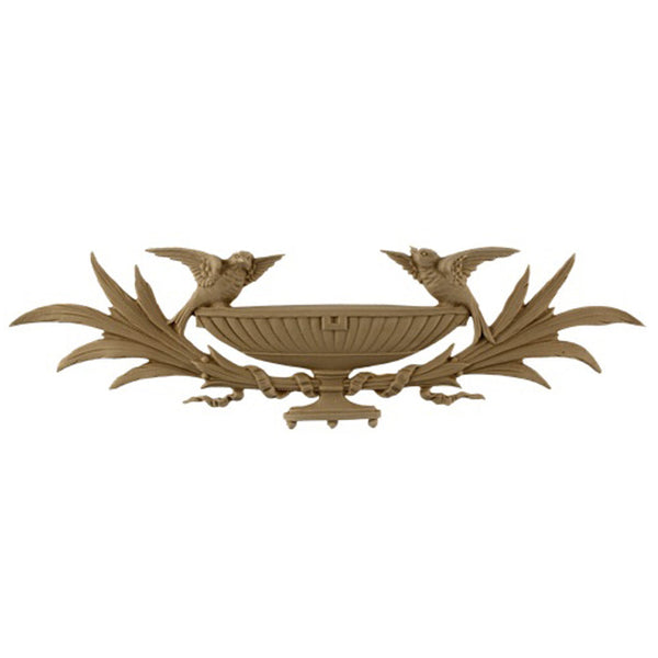 "14-3/4""(W) x 4-1/4""(H) x 1/4""(Relief) - Adams Birds & Branches Basket Accent - [Compo Material] - Brockwell Incorporated"