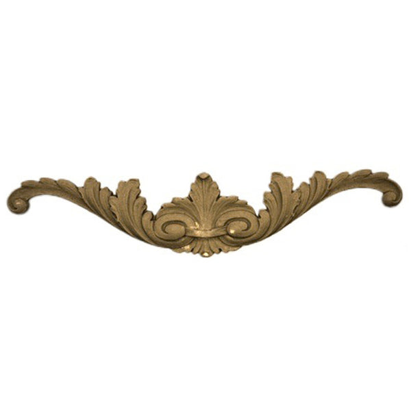 "8-3/4""(W) x 2""(H) - Floral Cartouche Ornament - [Compo Material] - Brockwell Incorporated"
