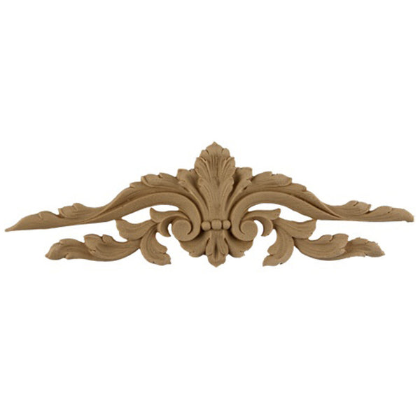 "7""(W) x 2-1/4""(H) - Floral Cartouche Accent for Woodwork - [Compo Material] - Brockwell Incorporated"