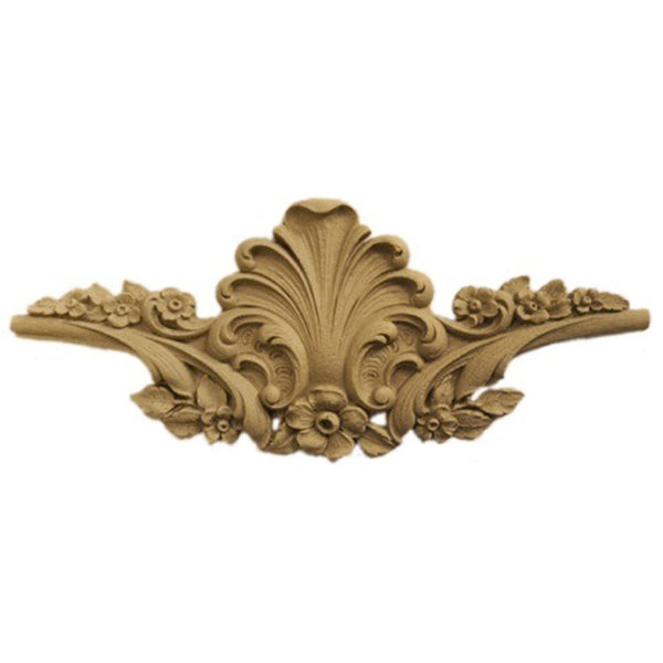 "9""(W) x 3-3/4""(H) - Cartouche Wall Applique - [Compo Material] - Brockwell Incorporated"