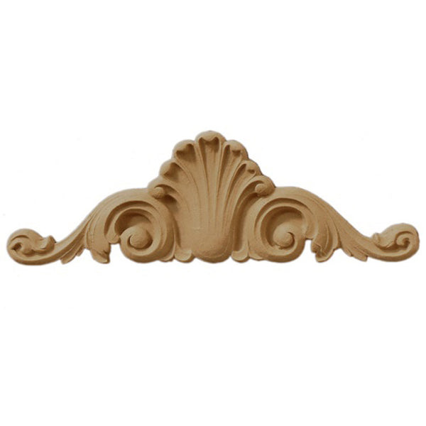 "9""(W) x 3""(H) - Cartouche Applique for Woodwork - [Compo Material] - Brockwell Incorporated"