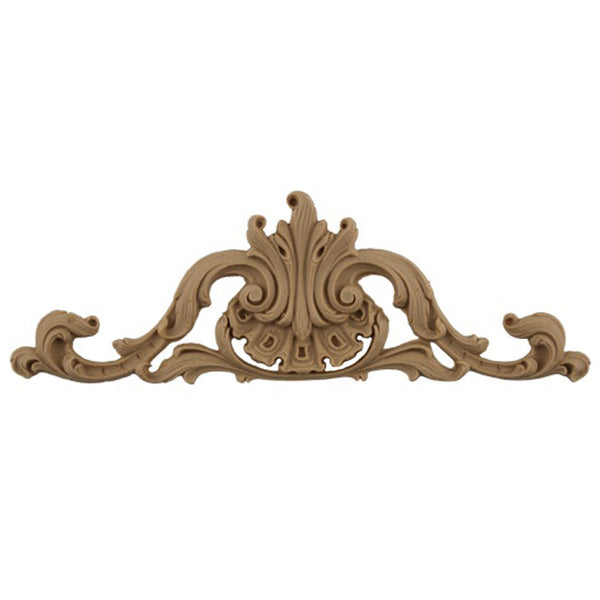 "8-5/8""(W) x 3""(H) - Ornate Cartouche Applique - [Compo Material] - Brockwell Incorporated"
