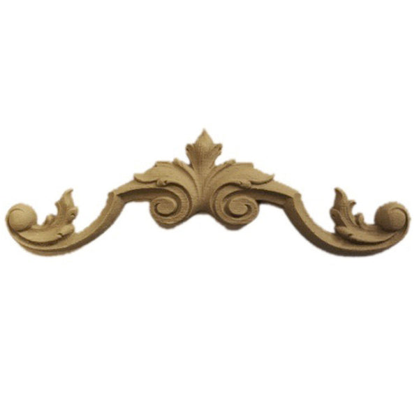 "8-1/2""(W) x 2-1/4""(H) - Classic Leaf Cartouche Accent - [Compo Material] - Brockwell Incorporated"