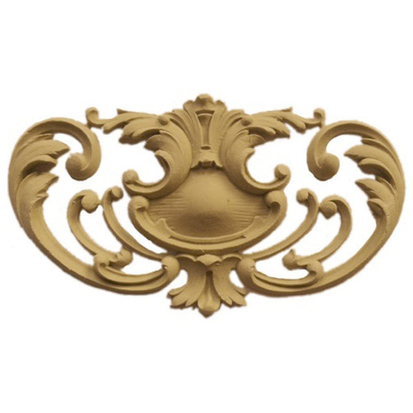 "7-1/2""(W) x 4-1/4""(H) x 3/8""(Relief) - Louis XV Cartouche Accent - [Compo Material] - Brockwell Incorporated"