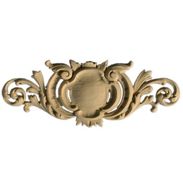 "8""(W) x 3-1/8""(H) x 5/16""(Relief) - Louis XV Cartouche Accent - [Compo Material] - Brockwell Incorporated"