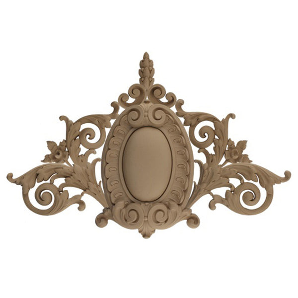 "37""(W) x 24""(H) x 1-5/8""(Relief) - French Renaissance Cartouche Accent - [Compo Material] - Brockwell Incorporated"