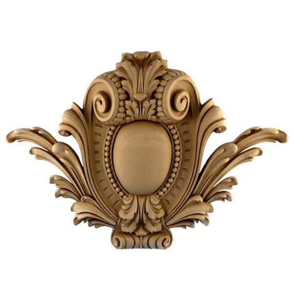 "22""(W) x 15-1/2""(H) x 2-1/2""(Relief) - Louis XIV Cartouche Accent - [Compo Material] - Brockwell Incorporated"
