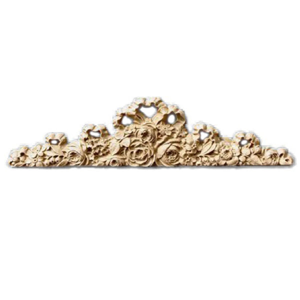 "8-1/2""(W) x 2-1/2""(H) - Rose Cartouche Design for Wood - [Compo Material] - Brockwell Incorporated"