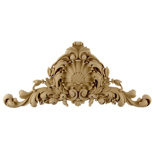 "19""(W) x 10""(H) x 7/8""(Relief) - French Renaissance Cartouche Accent - [Compo Material] - Brockwell Incorporated"